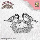 Nellie Snellen - Animals Clear Stamp - Birdsnest - ANI013